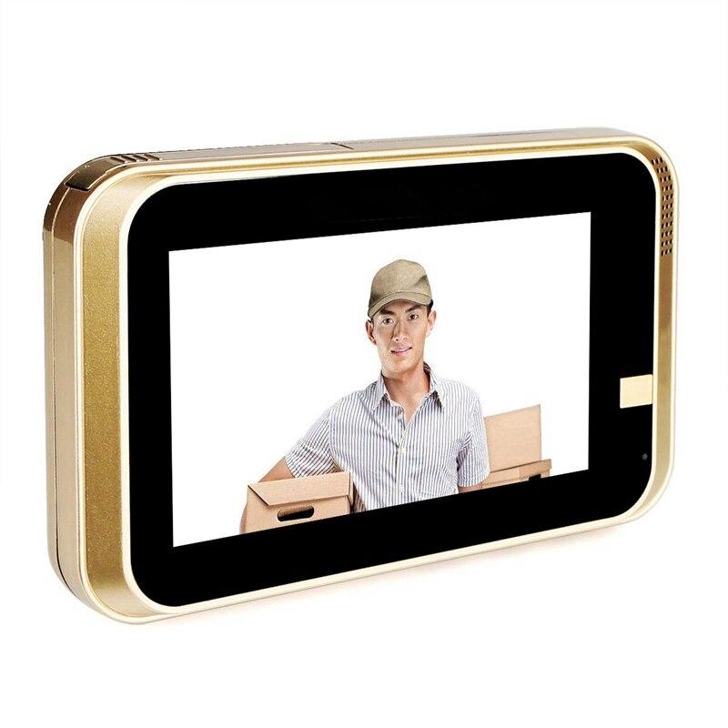 Smart IP Wifi judas vidéo sonnette 720P caméra de sécurité porte visionneuse détection de mouvement pour Android IOS Smartphone