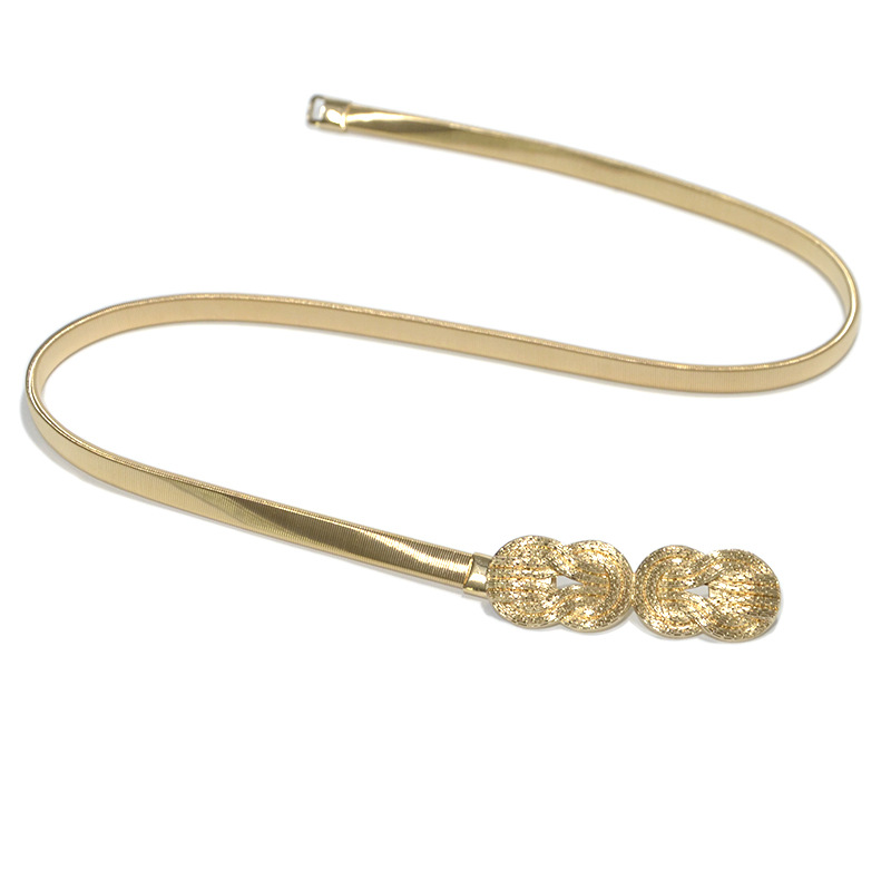 Luxury Desinger New Women's Metal Waist Chain Fashion Wild Big Cloud Elastic Spring Chain Waist Chain Bg-1163