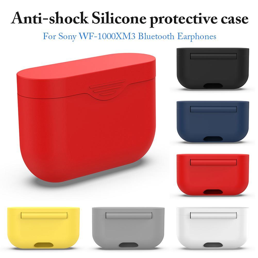 Funda protectora de silicona blanda para auriculares Sony WF-1000XM3, funda de colores para auriculares con Bluetooth, WF1000XM3