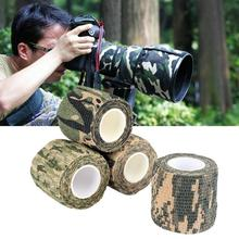 5CM*4.5M Army Camo Outdoor Hunting Tool Shooting Blind Wrap Non-Woven Camouflage Stealth Tape Waterproof Wrap Durable HOT outdoor retractable camouflage tape camo self adhesive non woven fabric wrap desert camo