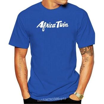 Nowy 2021 marka z krótkim rękawem dla fanów motocykli afryka Twin 750 koszulka motocykl S-3XL koszulka koszula z nadrukiem T-shirt tanie i dobre opinie CASUAL SHORT CN (pochodzenie) COTTON Cztery pory roku Na co dzień Z okrągłym kołnierzykiem 2018 men women Sukno Drukuj