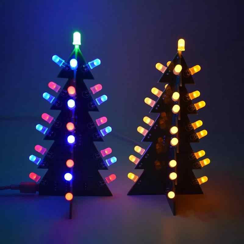 3D Albero Di Natale Kit FAI DA TE Luce Flash LED Circuito di Alberi Di Natale Creativo Decorazione Divertente Della Novità Giocattoli di Luce di Natale Forniture