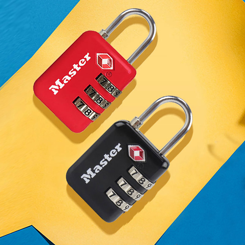 Master Lock <font><b>TSA</b></font> Lock 3 Digit Password Customs Luggage <font><b>Padlocks</b></font> Anti-theft Mini Code Lock for Suitcase Luggage Bag Travel image