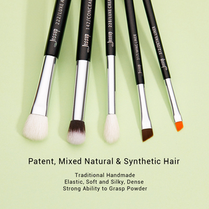 Image 2 - Jessup pincéis de maquiagem 15 pçs preto/prata maquiar profissional completa eyeliner shader definer lápis corretivo sobrancelha t177