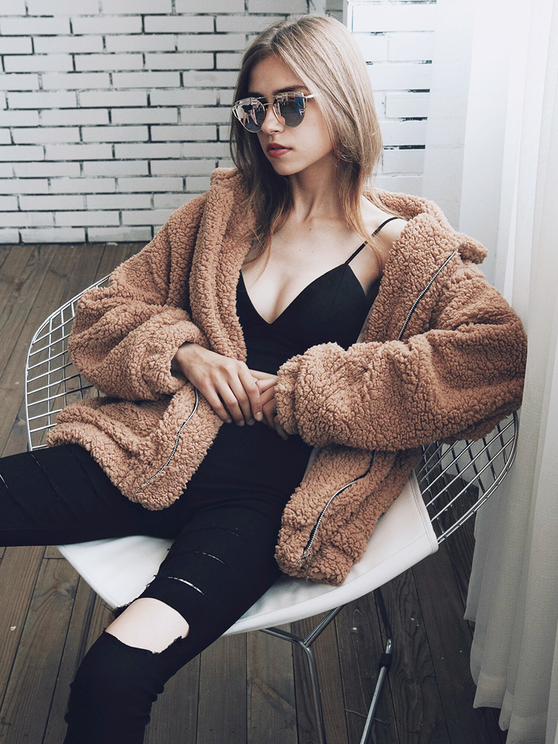 H1b9ea613a62c46249077d0ee0e4e50f3I Autumn winter jacket female coat 2019 fashion korean style plus size women teddy fur coat female casual jacket woman pusheen