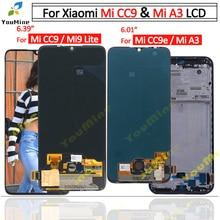 Xiaomi Mi CC9 LCD 디스플레이 터치 스크린 디지타이저 M1906F9SH M1906F9SI 어셈블리 교체 Xiaomi mi a3 LCD 용