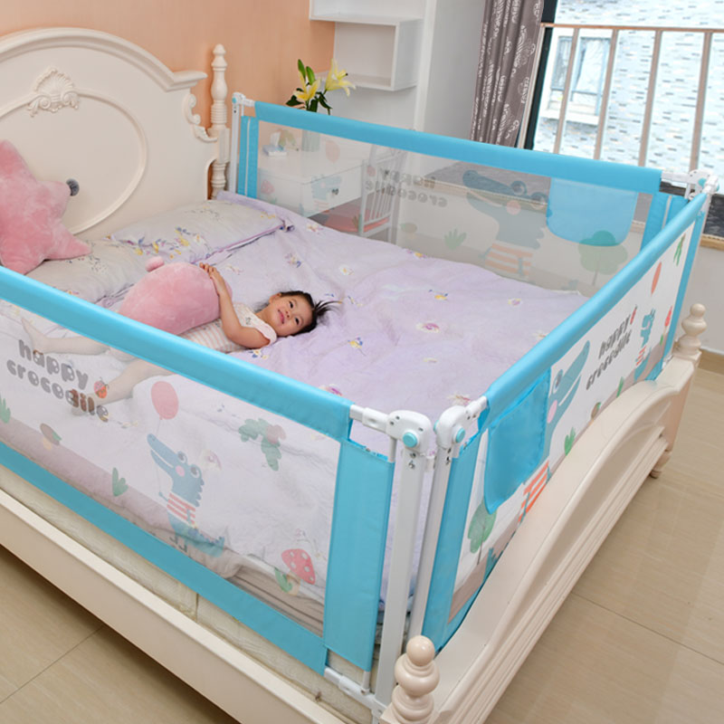 Baby Bed Safety Gate with Rails to Protect the Child from Falling Down the Bed while Sleeping or Playing 1