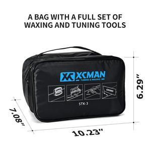 Image 2 - XCMAN 스키 스노우 보드 완벽한 왁싱 및 튜닝 키트 Travling 및 Storge 도구 용 Storge Bag 왁싱 다리가있는 지퍼가 달린 주머니