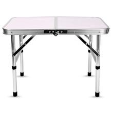 Алюминиевый складной стол для кемпинга, ноутбук, кровать, стол, регулируемые уличные столы, барбекю, портативный, легкий, простой, непромокаемый, для пикника
