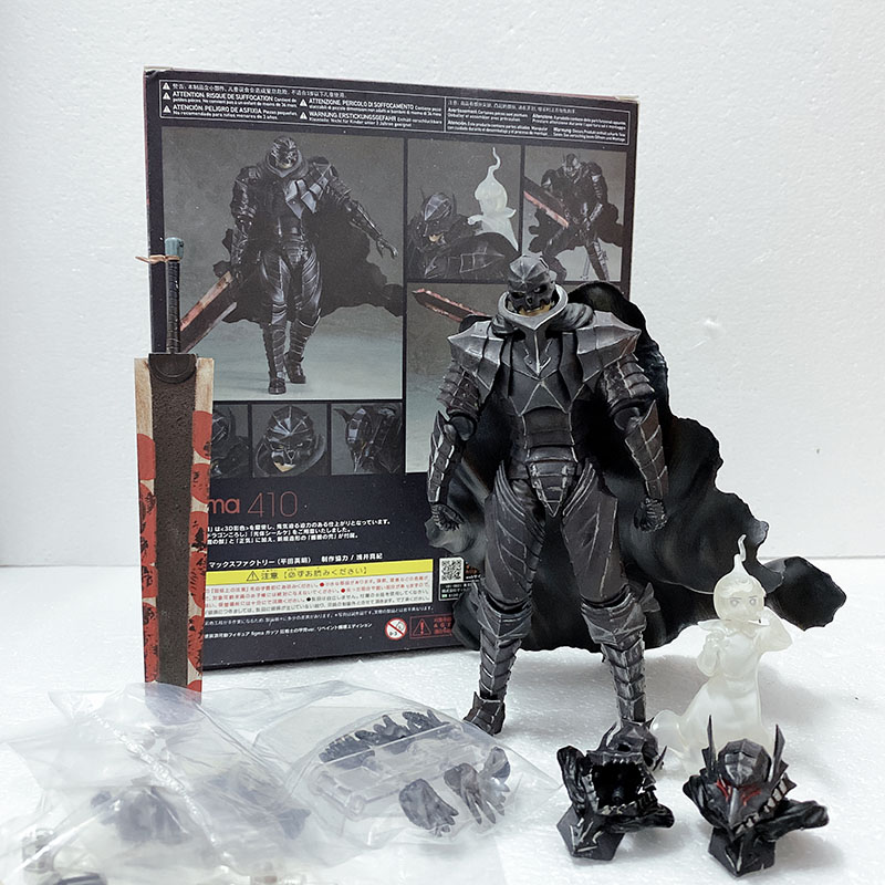 Figma 410 Berserk Black Swordman Action Figure Collectible Model Toy Doll Gift For Christmas