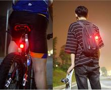Brake Warning Bike Light Rear USB Rechargeable Bicycle Lamp Bright Led Flash For Cycling Taillight
