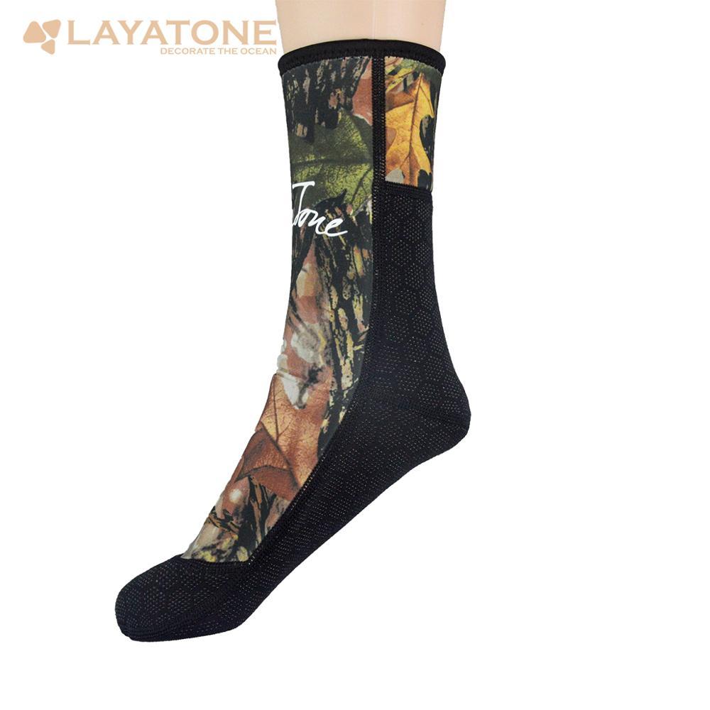 LayaTone Wetsuit Socks Men 3mm Neoprene Diving Socks Camouflage Fishing Boots Shoes Underwater Spearfishing Swimming Socks