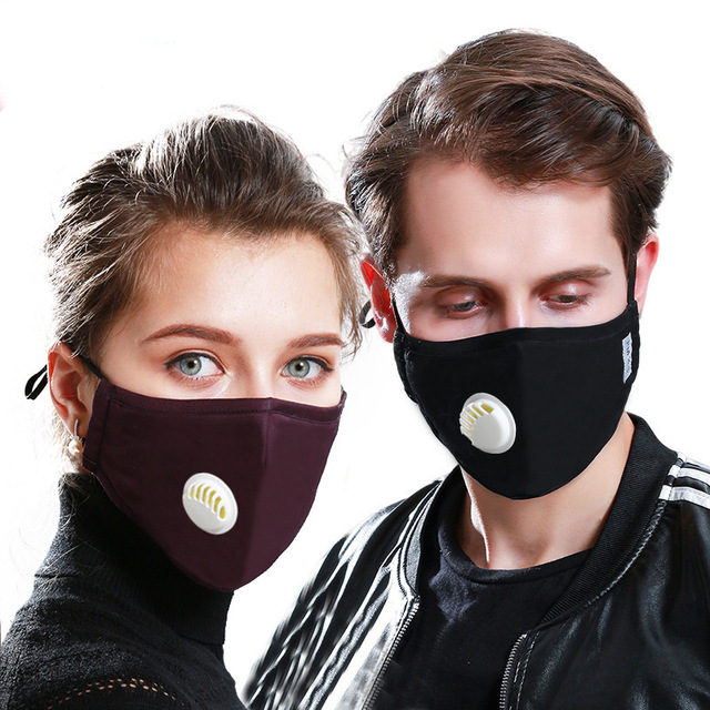Cotton Face Mouth Mask Anti Pollution KN95/PM2.5 Mask Dust Activated Carbon Filter Respirator Masks bacteria proof Flu Face mask 1