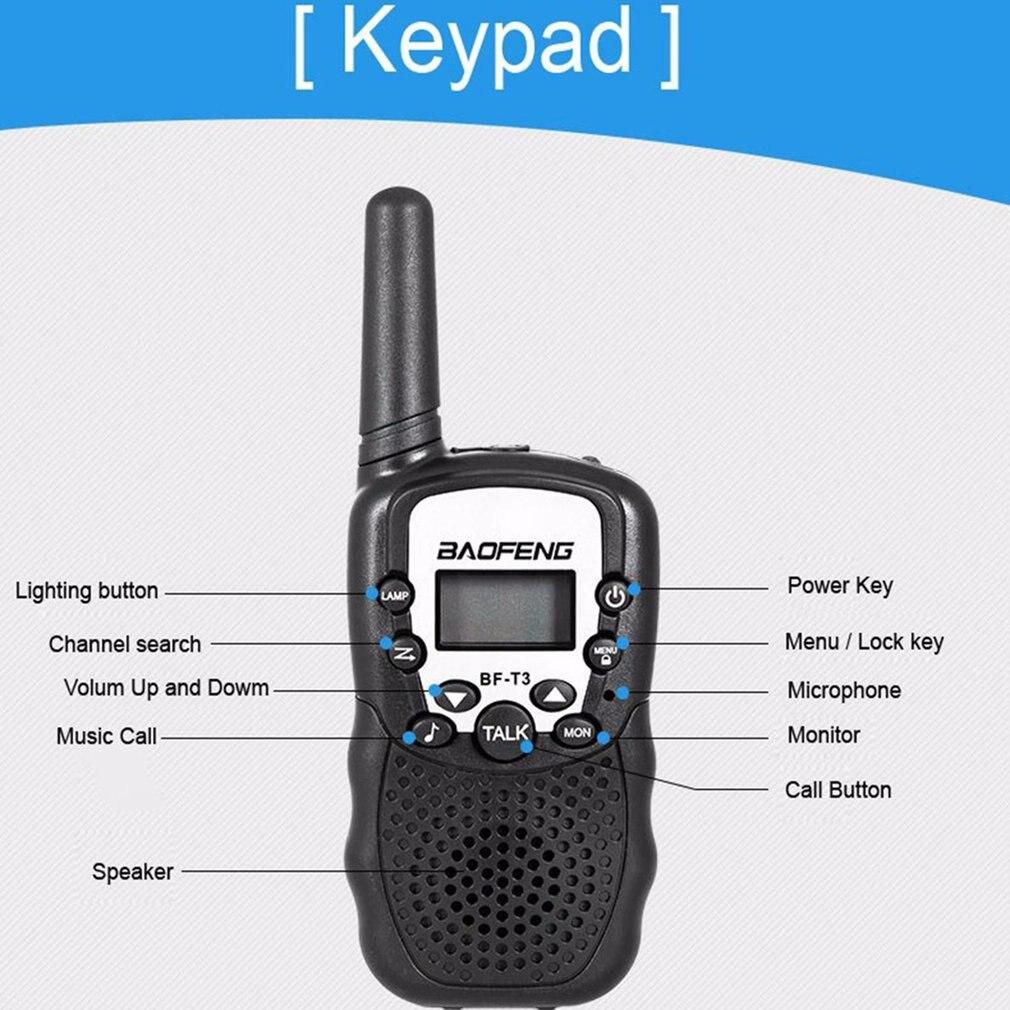 2 Stuks Baofeng BF-T3 Pmr446 Walkie Talkie Beste Gift Voor Kinderen Radio Handheld T3 Mini Draadloze Twee Manier Radio Kids speelgoed Woki Toki 5