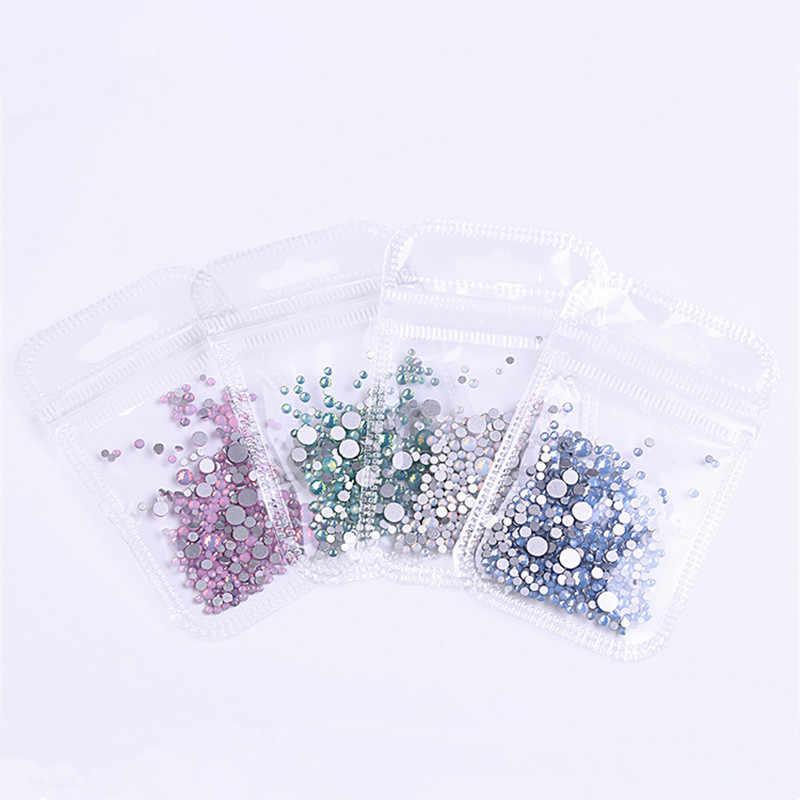 1 パックマルチサイズ SS4-SS20 オパールネイルラインストーン平底カラフルなクリスタルガラス宝石 DIY の UV ゲル 3D 爪装飾