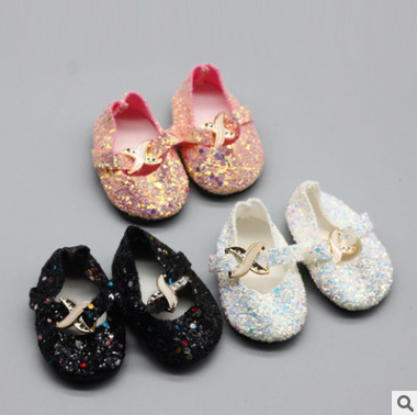 Sequin Button Shoes New Born Baby Doll Clothes for 18