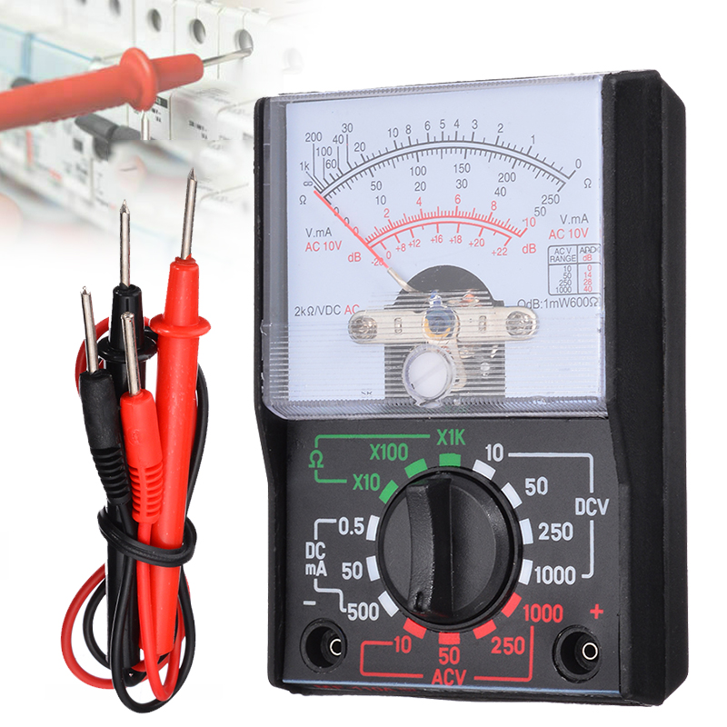 1pc Electric Analogue Multimeter AC <font><b>DC</b></font> Volts OHM Electrical Circuit Multi Tester Resistance Meter Electrical Instrument image