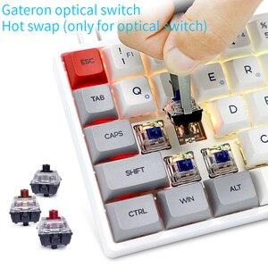 Image 2 - Skyloong SK71 Mini clavier mécanique Portable sans fil Bluetooth Mx rvb rétro éclairage clavier de jeu 71 touches commutateur GK61 Gateron