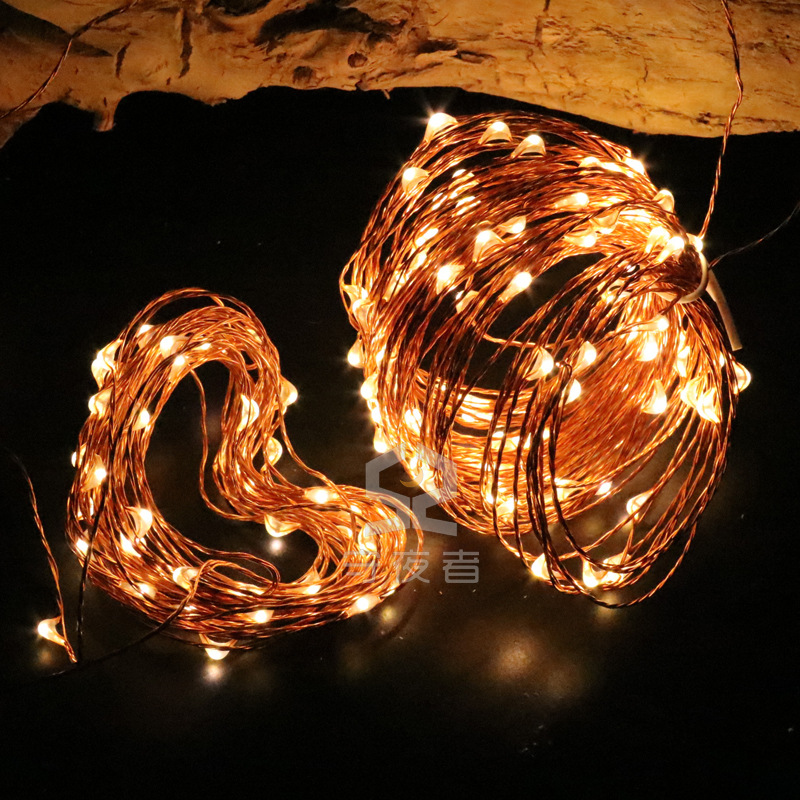 Star Colorful Lights Christmas Halloween Wedding Camping Decorative Lights LED String Lights USB Remote Control 8 Feature Copper