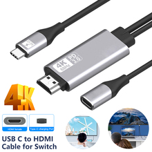60Hz HDMI 4K USB Type C Male to PD3.0 Female Power Cable Cord Adapter for Laptop
