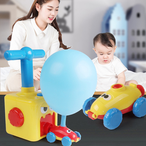 Education Science Experiment Toy Inertial Power Balloon Car Toy Puzzle Fun Inertial Power Car Balloon Toys for Children Gift(China)