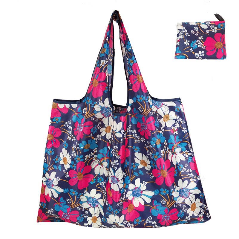 Big Size Foldable Thick <font><b>Magic</b></font> style Nylon Large Tote ECO Reusable Polyester Portable Shoulder Handbag <font><b>Folding</b></font> Pouch <font><b>Shopping</b></font> <font><b>Bag</b></font> image