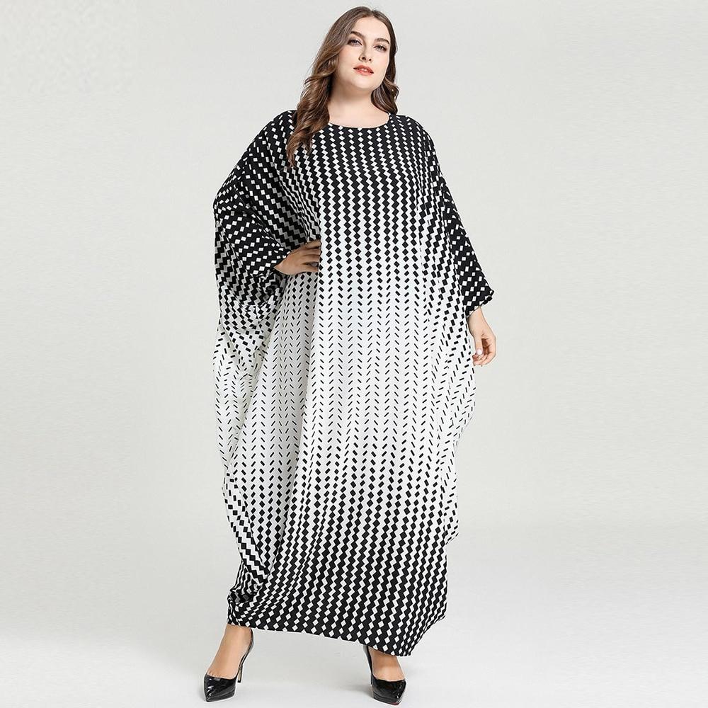 Plus Size Arabic Abaya Kaftan Dubai Hijab Muslim Long Dress Turkish Dresses Islamic Clothing Abayas For Women Vestidos Largos