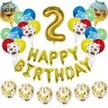 34 шт. в фермерском стиле шар 30 ''шара с цифрой 1 2 3 4 5 6 7 8 9 лет День рождения Декор Globos игрушки для детей фермы для вечеринок