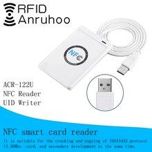 Lector de tarjetas de Control de acceso ACR122U, duplicador RFID, NFC, grabador de craqueo, tarjeta inteligente S50 UID, copiadora de llaves de 13,56 Mhz