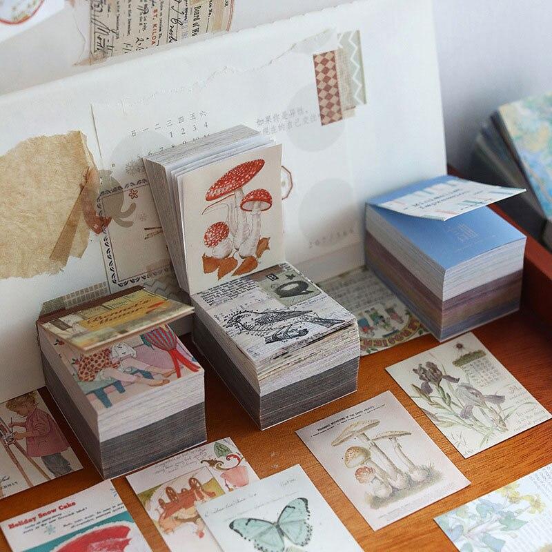 400 hojas de Material Vintage de papel lindo Mini libreta tarjetas de Scrapbooking/fabricación de tarjetas/proyecto de diario DIY diario tarjetas de decoración