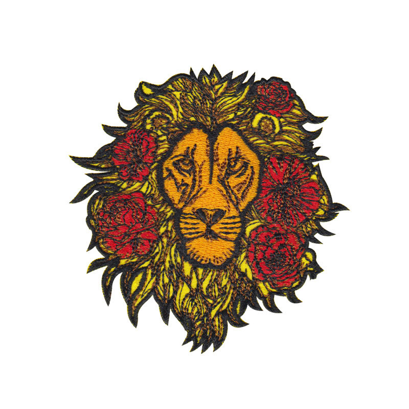 Sales Rose Embroidery Embroidery Cloth Patch Garment Accessories Computer Embroidery Logo P