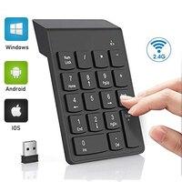 Mini tastiera numerica Wireless 2.4GHz Numpad 18 tasti tastiera digitale per tablet Notebook Laptop