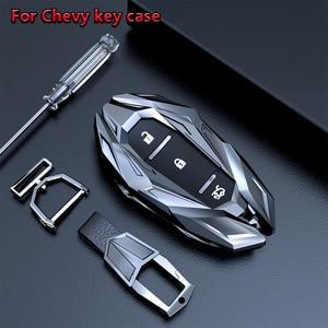 Image 1 - Car Smart Key Case Shell Cover Keychains Fob For Chevrolet Chevy Camaro Cruze Malibu Orlando EquinoxTracker 2017 Car Accessories