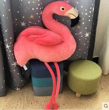 חמוד רך פלמינגו סימולציה ציפור בפלאש צעצוע הילדה יום הולדת מתנת עיצוב הבית
