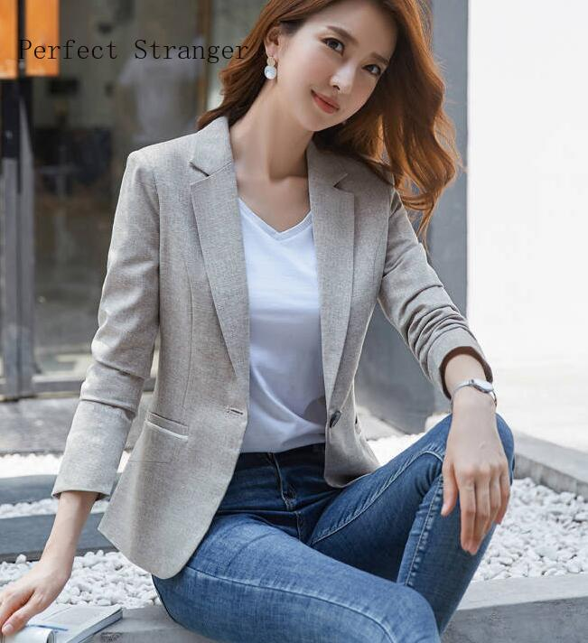 2020 Spring New Arrival Fashion Hot Sale Solid Color Turn-down Collar Long Sleeve Women Suit Coat Plus Size M-3XL