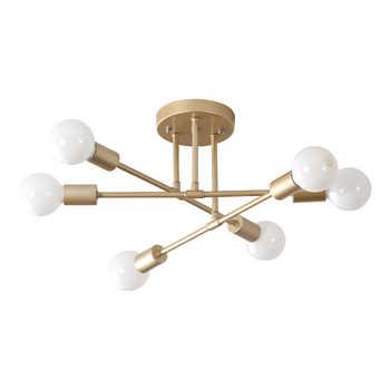 Ceiling Lights Vintage Multiple E27 Lamp Base Black/White/Gold For Living Room / Dining Room / Bedroom LED Ceiling Lamp - Category 🛒 Lights & Lighting