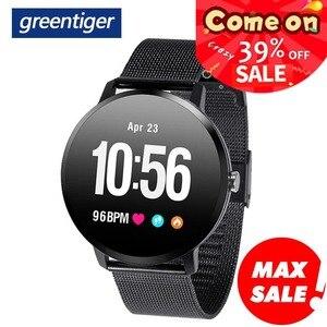 Image 1 - Greentiger V11 ساعة ذكية النشاط جهاز تعقب للياقة البدنية الرياضة Smartwatch IP67 للماء مراقب معدل ضربات القلب الرجال النساء VS DT78 L11 F8