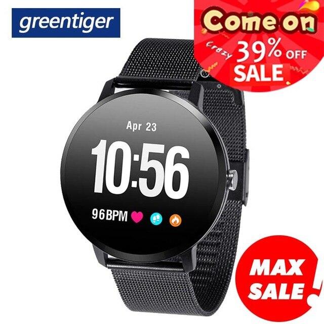 Greentiger V11 ساعة ذكية النشاط جهاز تعقب للياقة البدنية الرياضة Smartwatch IP67 للماء مراقب معدل ضربات القلب الرجال النساء VS DT78 L11 F8