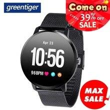 Greentiger V11 inteligentny zegarek monitor aktywności fizycznej Smartwatch sportowy IP67 wodoodporny pulsometr mężczyźni kobiety VS DT78 L11 F8