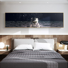 Affiche murale longue de planète spatiale nordique, peinture sur toile, salon, chambre à coucher, tête de toile, Art Mural