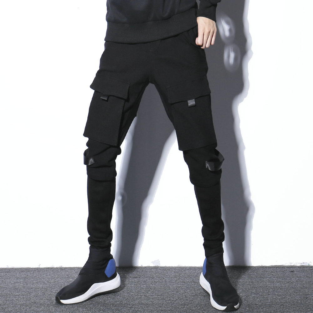 Darkly Style New Harem Pants Men 2020 Autumn Solid Black Mens Pants High Quality Casual Young Man Hip Hop Trousers Male