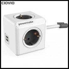 CIOVIO עם חוט חכם בית כוח קוביית שקע CIOVIO מפצל מתאם רב החליפו שקעים