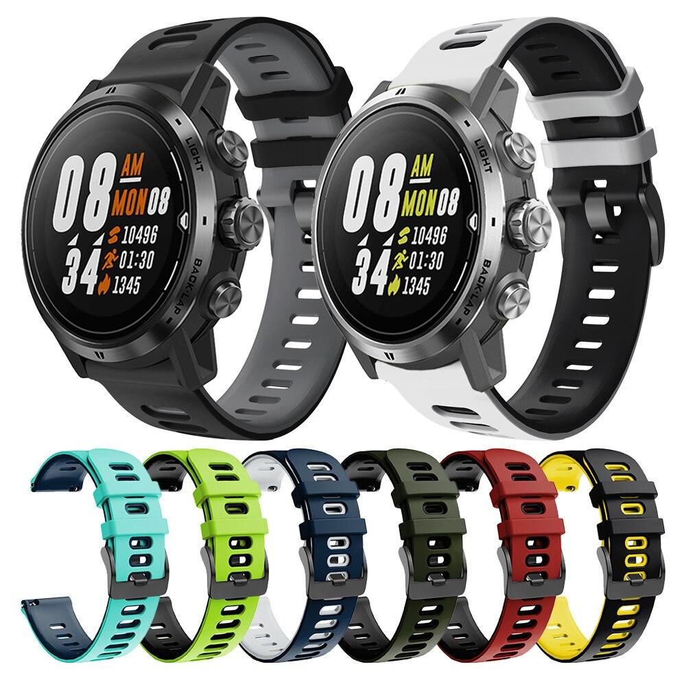 Silicone Correa Wrist Band For COROS APEX Pro / APEX 46mm 42mm Strap Watchband Bracelet ремешок