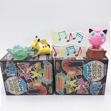 TAKARA TOMY 8pcs Pokemon Pocket Monsters Pikachu Articuno Eevee Figure Elf Doll Scenes Toys Children Gifts Action