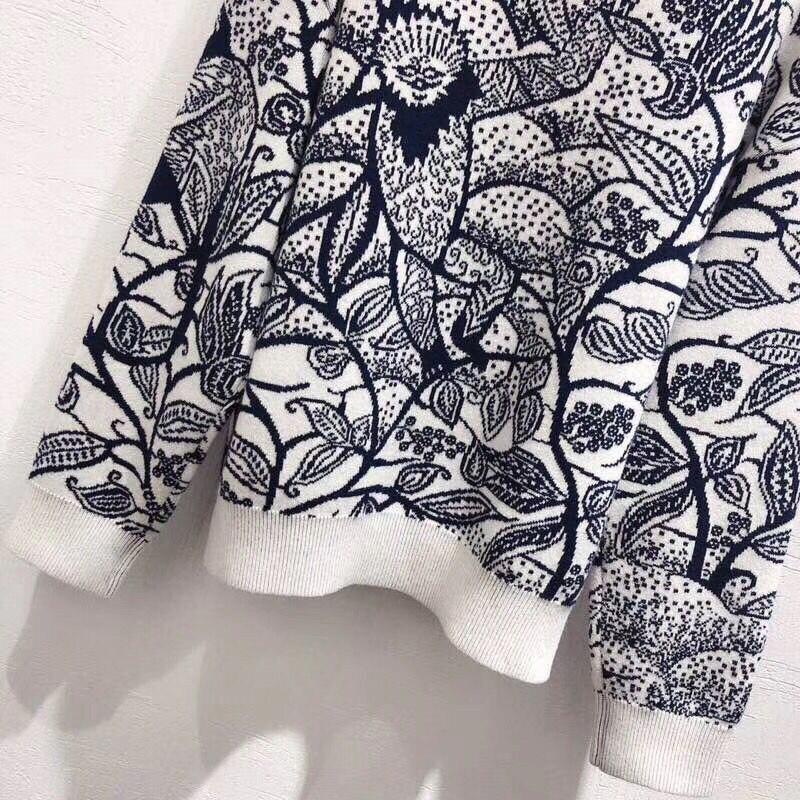 LINGHAN primavera sketch modello delicato ricamo fascia cachemire mescolato maglione di alta qualità casuale a maniche lunghe maglione - 5