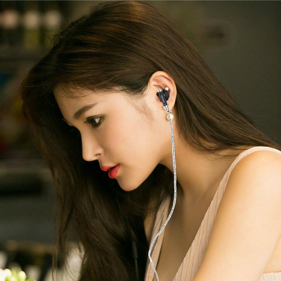 06 אוזן נייט ב Wired מתכת מעטפת האוזניות Kbear Hifi אוזניות אוזניות עם מצופים כסף בכבלים KB 06 אוזניות לסמארטפון Pc (2)