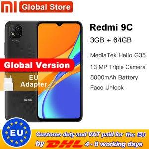Global Version Xiaomi Redmi 9C Mobile Phone 9C 3GB RAM 64GB ROM MediaTek Helio G35 6.53