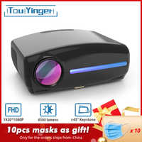 Touyinger S1080 C2 LED nativa de 1080P proyector completo proyector HD AC3 Video 6500 lúmenes casa cine HDMI Android 9,0 WIFI opcional