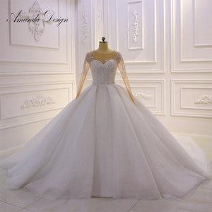 Image 1 - アマンダデザイン hochzeit クリスタルケバケバスパークルのウェディングドレス