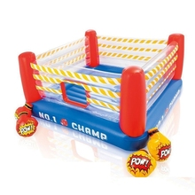 226cmx226cm Child Inflatable Boxing Ring Bounce House include Boxing Gloves Jumping House for Kids bounce house super bounce house 9 in 1 with happy funny house for children with inflatable toys jumping